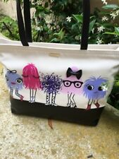 """Kate Spade New York """"Imagination"""" Monster Party Francis Tote, NWT"""