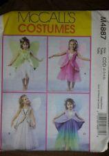 McCall's Costumes Fairy Dress M4887 Size2 3 4 5  UnCut Princess Pattern Wings