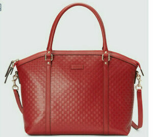 New Authentic Gucci 449657 Microguccissima Large Leather Satchel