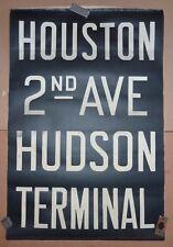 1940's Vintage New York City Subway R1 Front Destination Rollsign HUDSON TERMINA