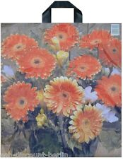NEU 50 Plastiktüten Tragetaschen im Blumen Aster Look 47x43cm Neutral TOP
