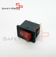 Interruptor ON OFF con luz 220v ROJO rectangular SPST 6A 220v SP