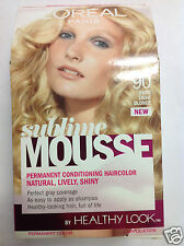 L'Oreal Sublime Mousse By Healthy Look Hair Color ( PURE LIGHT BLONDE #90 ).
