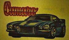 Camaro 70s vintage retro tshirt transfer print, non glitter, new, Nos