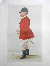 Original Vanity Fair impresión de John Hargreaves, Fox Hunter, 1887 (revista Inc)