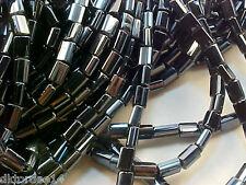 VTG 200 GUNMETAL GRAY RECTANGLE GLASS SPACER BEADS 5X5.3mm THE BEST! #091711c