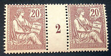 France N° 126 20 c brun lilas Neuf ** millésime 2 TB choix côté 835€