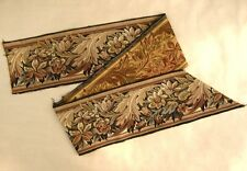 Vintage French Woven Tapestry Border Panel, Acanthus Leaf Pattern - 81 Inches