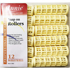 ANNIE SNAP ON ROLLERS #1002, 12 COUNT YELLOW MEDIUM 3/4""