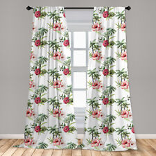 Hawaii Microfiber Curtains 2 Panel Set for Living Room Bedroom in 3 Sizes