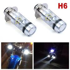 2PCS 100W Universal H6 Moped Scooter LED Headlight Bulb White Fog Light Motor
