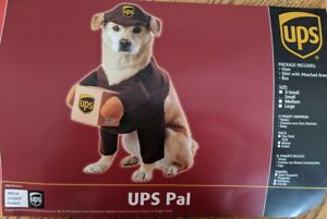 UPS Delivery Driver Uniform Pal Pet Play Dog California Costume Theater Fun Sz S