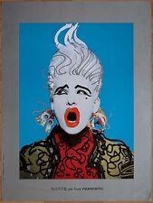 affiche originale SWATCH par Tony VIRAMONTES * 1984 * 60 x 80 cm  Très Rare