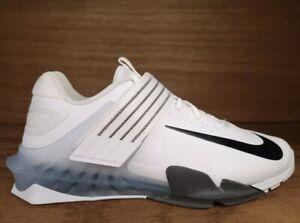 NEW Nike Mens Savaleos Weightlifting Shoes White Black Grey CV5708-100 Sz 10 NIB