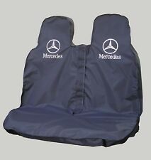 Mercedes SPRINTER Pasajero Doble Funda De Asiento-Heavy Duty Impermeable en Negro