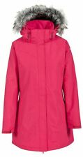 Trespass Womens San Fran Waterproof Parka Jacket with Zip Off Hood Padded Coat