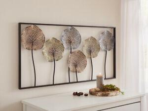 "Metall-Bild ""Lotus"", Wandbild aus Metall, 50cm x 100cm, Deko-Bild"