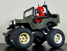 Vintage original 1982 Tamiya 1/10 RC Wild Willy M38 Jeep Kyosho Parts or Restore