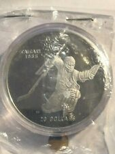 1986 CANADA $20 PROOF COIN - CALGARY 1988 WINTER OLYMPICS HOCKEY