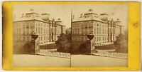 Germania Sassonia Dresda, Palais Japonais. Foto Stereo Vintage Albumina Ca 1870