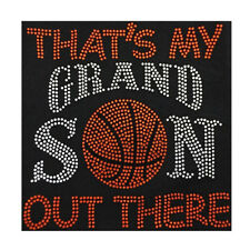Basketball  My Grandson Out There Bling Fashion Ladies Rhinestone T-shirts