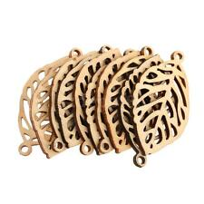10pcs Laser Cut Leaves Wood Shapes Charms Woodcrafts Scrapbooking Crafts