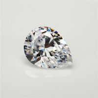 White Zircon 51.52Ct 18x25mm Pear Faceted Cut AAAAA VVS Loose Gemstone