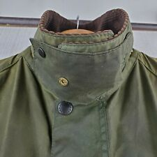 VTG BARBOUR BEDALE Size 46 XL England Mens Sage Waxed Patina Field Jacket Coat