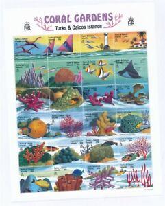 D202480  Fish Coral Gardens MNH Sheetlet Turks & Caicos Islands