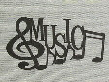 Music and Notes Laser Cut Wood Wall Art Decor