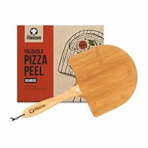 Pelle À Pizza Chef Pomodoro En Bambou Avec Poignée En Bois Pliable Pour Un Range