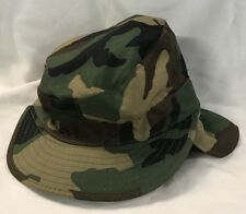 c3c7420a5292f woodland camo Cadet Army Cap with ear flaps size 6 3/8 hat