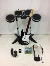 Xbox 360 Rock Band 2 Bundle Complete Wireless Guitar, Drum Mic