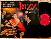 Dave Brubeck Quartet Jazz Red Hot and Cool LP Columbia 6-Eye CL 699 Mono Live NY