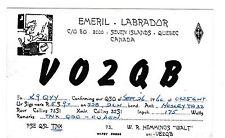 VINTAGE 1960 SHORTWAVE RADIO POSTCARD V02QB QUEBEC CANADA W.R. HEMMINGS