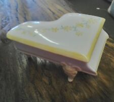 vintage piano shaped porcelain jewelry box