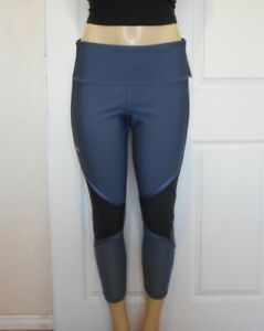 UNDER ARMOUR Size XL Womens Leggings Gray Compression Crop