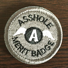 Ass Hole Merit Badge Military Tactical Morale Desert OPS Subdued Patch Gray