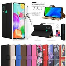 For Honor 9A Wallet Case, Magnetic Flip Leather Phone Cover + 9H Tempered Glass