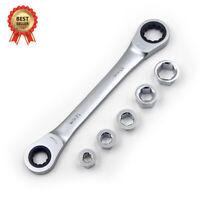 2in1 Ratschenschlüssel, Ring Maul Ratsche, Schlüssel Satz 8-19mm Werkzeug Set