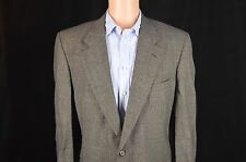 Burberry Sport Coat Blazer Gray Plaid 2 Button 44R 100% Wool