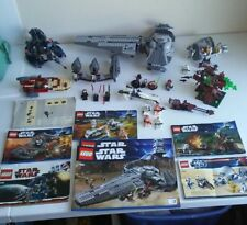 Lego Star Wars Lot multiple sets many minifigures most near complete cool