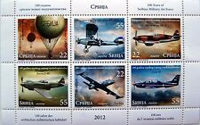 SERBIA-MNH** - 100 YEARS OF SERBIAN MILITARY AIR FORCE-PLANE-2012