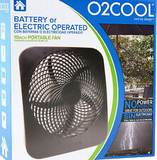Battery Operated 10 Inch Fan w/ AC Adapter Free Shipping Ventilador Con Batería