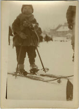 PHOTO ANCIENNE - VINTAGE SNAPSHOT - SPORT SKI ENFANT - SKIING CHILD 1928