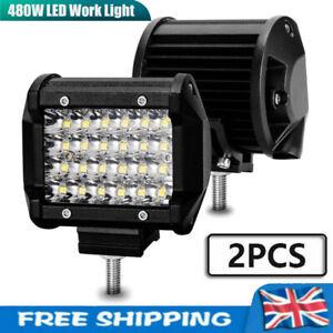 2x 480W Car LED Work Light Bar Flood Spot Lights Driving Lamp Offroad SUV Truck
