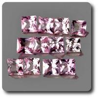 SAPHIR ROSE. 0.10 cts. 2,40 MM. IF - VVS1 ( vendu à l'unité ) Ceylan, Sri Lanka