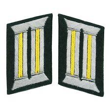 Repro WW2 German Army Officer Jaune Citron Signals Onglet De Collier Paire