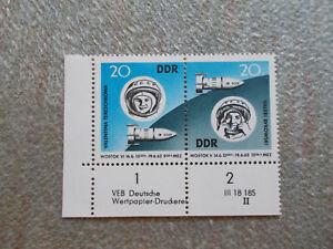 DDR , Zus. Dr. Mi. Nr. 970 - 71 mit Druckvermerk postfrisch , s. Foto
