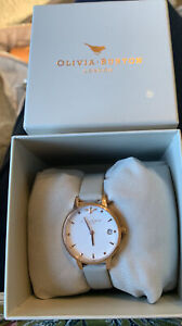 New Olivia Burton Queen Bee 🐝 Watch With Grey Leather Strap & Rose Gold MIDI